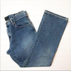CALVIN KLEIN Straight Leg Mid Rise Mom Jeans
